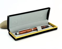 Stylus and Pen in Rosewood and Chrome With Gift Box by Woodistry, $34.00