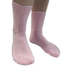 Slenderella Stripe Bedsocks - Blue or Pink - One Size Fleece Pajamas, Pyjamas, Pjs, Blue Cream, Pink Blue, Bed Socks, Cold Feet, Winter Season, Nightwear