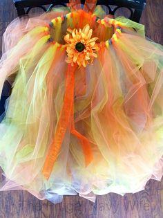 DIY Kids Tutu Scarecrow Costume Finished