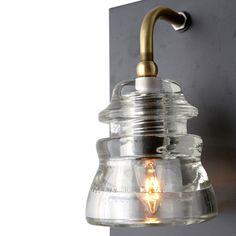 Insulator Sconce * outside to light the menu? from Cisco on melros.