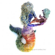 """""""Hello"""" a mixed media sculpture by Kris Walker.   Available @ http://www.reflectingspirit.ca/gallery/product/hello"""