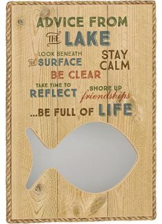 Imagine Design x Great Outdoors Advice from The Lake Mirror Rustic Lodge Decor, Bamboo Cutting Board, Surface, Advice, Outdoors, Mirror, Life, Design, Tips
