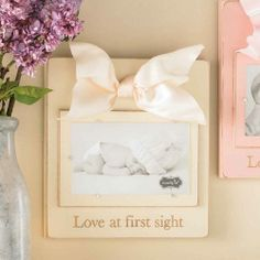 Love frame by Mud Pie Baby Picture Frames, Love Frames, Mud Pie, Love At First Sight, Baby Pictures, Baby Kids, Bliss, Gifts, Inspiration