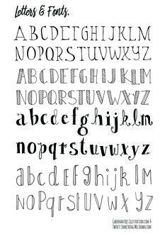 How To Hand Letter Free Bullet Journal Hand Lettering Alphabet within Handlettering Letters Hand Lettering Alphabet, Doodle Lettering, Creative Lettering, Full Alphabet Fonts, Lettering Ideas, Handwriting Fonts Alphabet, Penmanship, Calligraphy Letters, Cute Letter Fonts