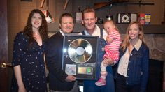 Sometimes the best part of getting a gold record, is giving one to someone  else...