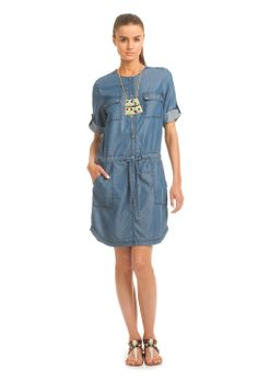 Trina Turk has reinvented denim with this summer dress.  Pair with a wedge and you're off!