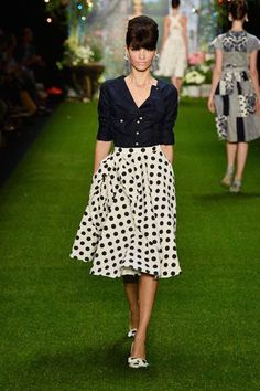 dots, black, white, fashion, style I schwarz, weiß, kleidung I Lena Hoschek, SS 2014, Fashion Week Berlin