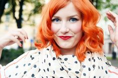 Elsa Billgren - beautiful fiery hair!