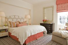 green and coral decorations | beyond the aisle: summer/fall color: coral and peach in home decor