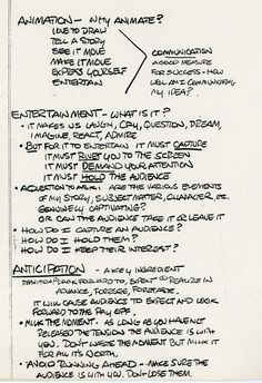 GLEN KEANE´S NOTES ★ || iAnimate || ★ Find more at https://www.facebook.com/iAnimate.net http://www.pinterest.com/ianimateclasses #ianimate iAnimate.net is quite simply the best animation program in the world. #animation #notes