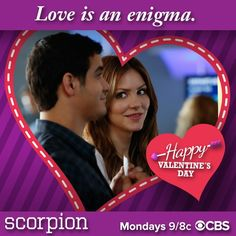 """""""Happy Valentine's Day: Love is an enigma. Valentine Day Love, Valentine Day Cards, Walter O'brien, Gabel, Good Doctor, Criminal Minds, My Heart Is Breaking, Scorpion, Tv Shows"""