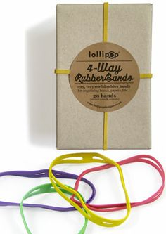 Very useful 4-way bands : lollipop : paper treats & more...