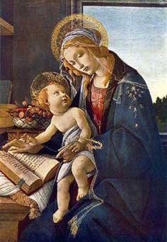 Sandro Botticelli - virgen del libro