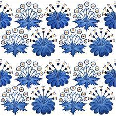 william morris tiles   ... / Tile Shop / Bespoke Tile Range / D A I S Y 10 Blue Bespoke Tiles