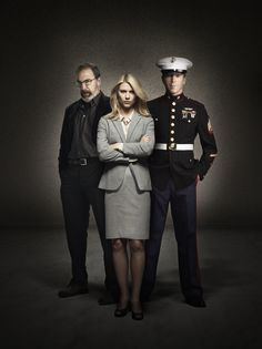 Homeland, 1. Sezon: Claire Danes (Carrie Mathison), Damian Lewis (Nicholas Brody), Mandy Patinkin (Saul Berenson)