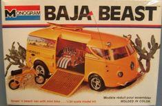 Baja Beast Monogram Model Kit design by Tom Daniel Model Cars Kits, Kit Cars, Car Kits, Vintage Models, Old Models, Vintage Toys, Monogram Models, Plastic Model Cars, Mini Bike