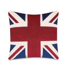 Large Union Jack Toss Pillow - BedBathandBeyond.com