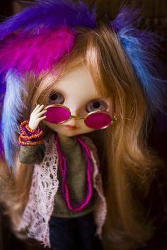 oh lord wontcha buy me... Janis Joplin inspired #Blythe #doll