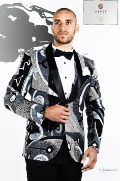 Le smoking en pagne African Male Suits, African Shirts, African Print Fashion, Africa Fashion, African Wear, African Dress, Ankara, Dope Fashion, Mens Fashion