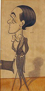 Max Beerbohm, self-caricature, 1897 (dandy)