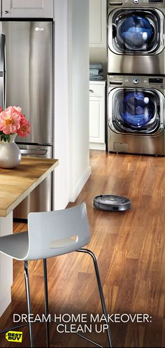 Forget Spring, cleaning season is a year-round opportunity to make your home shine. It all starts with a laundry pair for all your delicates, blankets and everything in between. And don't forget the floors, you'll need a Roomba for that. The robotic vacuum tracks down dirt and whisks it away while you're off doing other things.