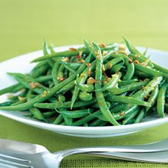 Roasted Green Beans - Low-Fat Christmas Recipes - Health Mobile