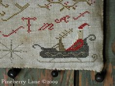 Merry Christmas Hanging Sampler PATTERN
