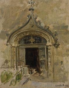 Joaquín Sorolla (Spanish, 1863-1923), Puerto de la Lonja, Valencia. Oil on canvas, 47 x 36.5 cm.