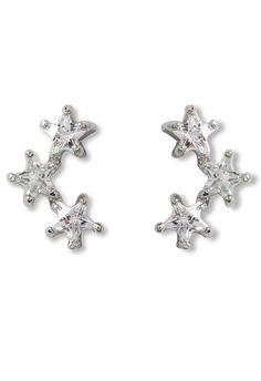 Silver Triplet Crystal Star Stud Earrings Chic Wish 10