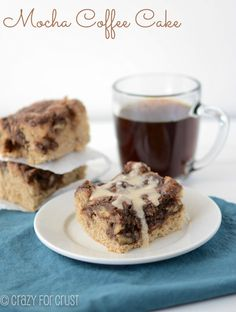 Mocha Coffee Cake from @crazyforcrust.com    A coffee cake filled with coffee!