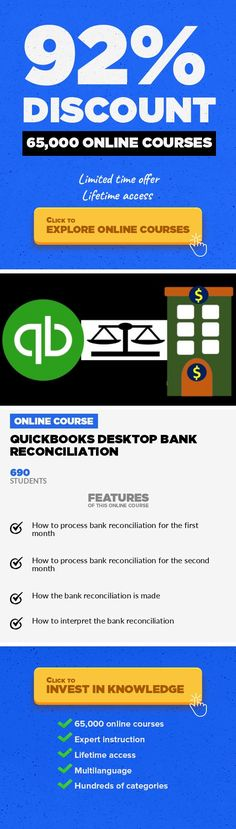 QuickBooks Desktop Bank Reconciliation Entrepreneurship, Business  Perform QuickBooks bank reconciliation, interpret QuickBooks bank reconciliation reports, and understand the process. If we are a business owner who would like more assurance about our books, a business professional who would like to advance our careerby learning the importance of bank reconciliations, or an accounting student wh...