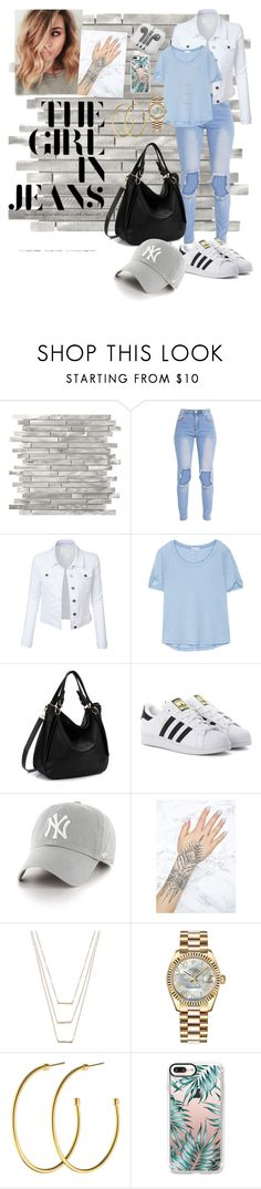 """""""📚"""" by lenylo16 ❤ liked on Polyvore featuring LE3NO, Splendid, adidas Originals, '47 Brand, Lime Crime, ERTH, Rolex, Dyrberg/Kern, Casetify and PhunkeeTree"""