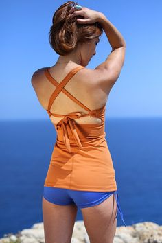 Linda Top- Perfect for hot yoga, yoga, dance, pole, and can be worn as a tankini at the beach.