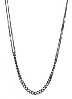 Harakiri - Fall Winter 2014 - Menswear  // Mix Curb Chain Necklace Men's Jewelry