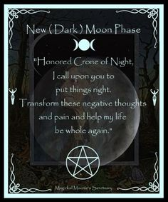 New (Dark) Moon Blessing Found on Grimoire of the Modern Witch