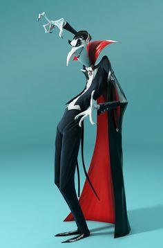 3D / Vampire / Denis Zilber concept / Final v1 on Behance