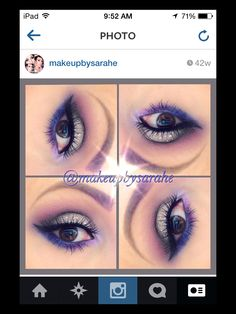 Taupe and purple makeup. For list of products, just ask!!