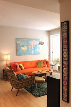 Orange Couch Living Room Snapshots Paint The Gown Red Interior