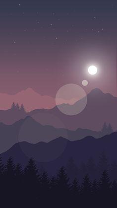 Purple landscape illustration