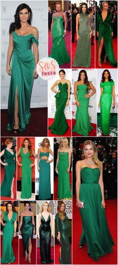 SOS Festa: Vestido verde! - Fashionismo