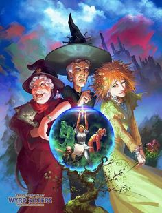 Granny Weatherwax, Nanny Ogg and Magrath - the three witches from Wyrd Sisters by Terry Pratchett