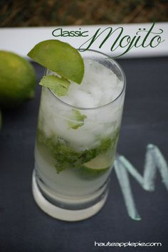 Classic Mojito Recipe Classic Mojito 1 small lime, cut into wedges 10-12 mint lives, roughly chopped 1 1/2 oz light rum (like Bacardi) 1/2 TBSP simple syrup 1/4 C club soda 1 C crushed ice