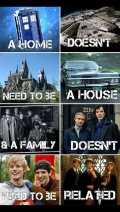 Fandoms - Star Wars Family - Ideas of Star Wars Family - A home doesn't need to be a house & a family doesn't need to be related. Doctor Who Star Wars Harry Potter Sherlock Merlin Book Memes, Book Quotes, Hunger Games, Film Manga, Fangirl, Mrs Hudson, Fandom Crossover, Harry Potter Memes, Voldemort