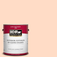 BEHR Premium Plus 1-gal. #260C-2 Salmon Creek Hi-Gloss Enamel Interior/Exterior Paint