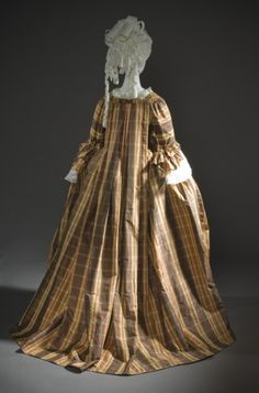 Robe a la Française | LACMA Collections | circa 1760 | Silk | a) Robe center back length: 61 in. (154.94 cm); b) Petticoat center back length: 39 1/2 in. (100.33 cm) | (M.2007.211.925a-b)