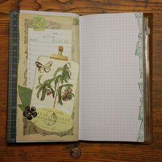 Journaling!The first day of 2017! #journaling #journal #journaltime #scrap #scrapping #artjournal #ephemera #vintage #collage #botanic #botanical #vintagestamps #stamps #postzegels #tn #travelersnotebook #travelerscompany #mtn #tninsert #grid #paperaddict #paperlove #paperlover #paper #papier #papierliebe #papierliefde #papierverslaafd #chamilgarden