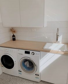 Laundry Room Design, Laundry In Bathroom, Küchen Design, Tile Design, House Design, Laundy Room, Splashback Tiles, Laundry Room Inspiration, Home Organisation