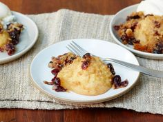 Streusel is a super-easy topping for in-season pears--it's just flour, butter and sugar. Throw cranberries into the mix to top on this Pear Cobbler.