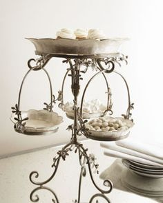 Dinner Plates, Christmas Placemats & Martini Set at Neiman Marcus Horchow - Capiz Art