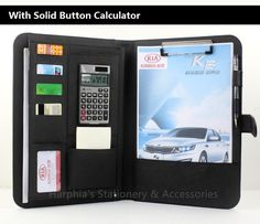 31.98$  Watch now - http://aliymi.shopchina.info/go.php?t=32611361064 - A4 Classical solid button calculator manager nappa leather portfilio document  business file folder brief case with calculator  #magazineonline